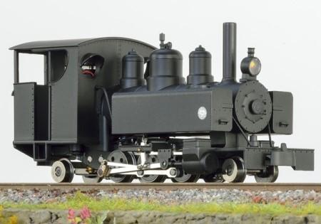 Baldwin 2-6-2 schwarz mit geschlossen Führerhaus und schwarzer Rauchkammertüre – Minitrains  | günstig bestellen bei Modelleisenbahn Center  MCS Vertriebs GmbH