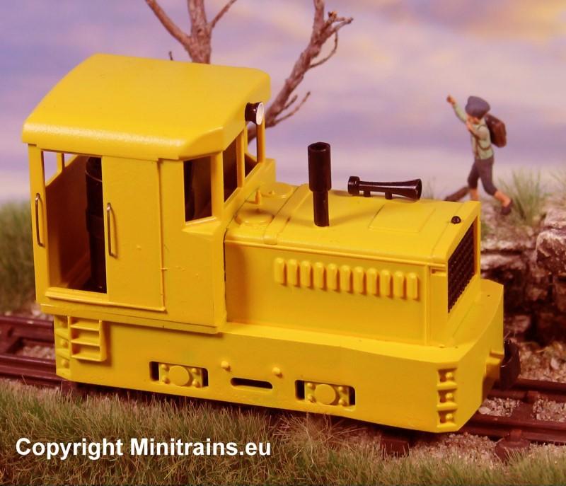 H0e Plymouth Diesellok gelborange - Minitrains 2056  | günstig bestellen bei Modelleisenbahn Center  MCS Vertriebs GmbH