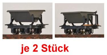 H0e Kipploren, je 2 mit und 2 ohne Bremse - Minitrains 3111  | günstig bestellen bei Modelleisenbahn Center  MCS Vertriebs GmbH