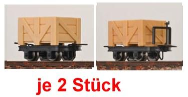 H0e Kastenloren, je 2 mit und 2 ohne Bremse - Minitrains 3113  | günstig bestellen bei Modelleisenbahn Center  MCS Vertriebs GmbH