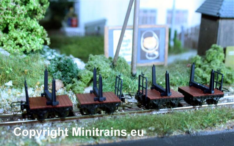 HFB Holzloren, 4 Stück, H0e - Minitrains 5109  | günstig bestellen bei Modelleisenbahn Center  MCS Vertriebs GmbH