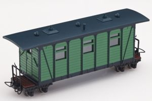 Heeresfeldbahn Personenwagen grün - Minitrains 5143  | günstig bestellen bei Modelleisenbahn Center  MCS Vertriebs GmbH