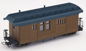 F&C Packwagen braun ohne  Beschriftung - Minitrains 5152    günstig bestellen bei Modelleisenbahn Center  MCS Vertriebs GmbH