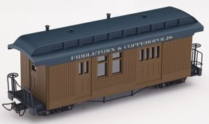 F&C Packwagen braun mit  Beschriftung - Minitrains 5162    günstig bestellen bei Modelleisenbahn Center  MCS Vertriebs GmbH