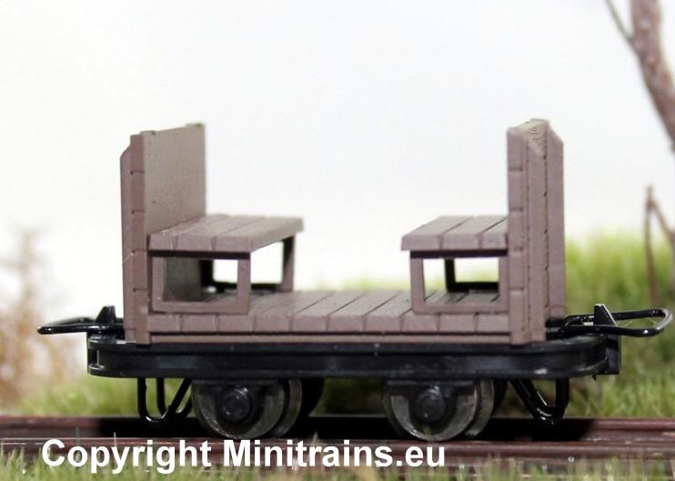 Sitzbankwagen, 2 Stück, H0e - Minitrains 5186  | günstig bestellen bei Modelleisenbahn Center  MCS Vertriebs GmbH