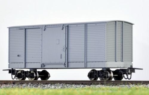 Amerikanischer Box Car grau mit Pershing-Drehgestellen  - Minitrains 5241  | günstig bestellen bei Modelleisenbahn Center  MCS Vertriebs GmbH