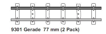 H0e gerades Gleis L=77mm, 2 St mit Feldbahnschwellen - Minitrains  | günstig bestellen bei Modelleisenbahn Center  MCS Vertriebs GmbH