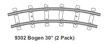 H0e gebogenes Gleis, R=140mm, 30° 2 St. mit Feldbahnschwellen – Minitrains  | günstig bestellen bei Modelleisenbahn Center  MCS Vertriebs GmbH