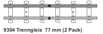 H0e Trenngleis gerade 77mm, 2 mit Feldbahnschwellen  - Minitrains  | günstig bestellen bei Modelleisenbahn Center  MCS Vertriebs GmbH
