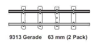 H0e gerades Gleis, L=63mm, 2 St. mit Feldbahnschwellen – Minitrains  | günstig bestellen bei Modelleisenbahn Center  MCS Vertriebs GmbH