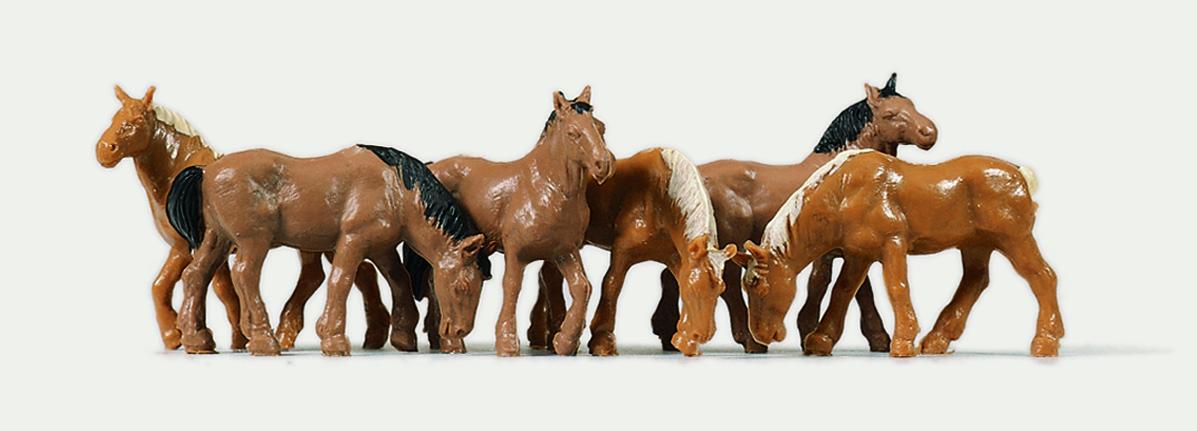 1:87 Pferde - Preiser 0215018  - preiswerte Standardbemalung | günstig bestellen bei Modelleisenbahn Center  MCS Vertriebs GmbH