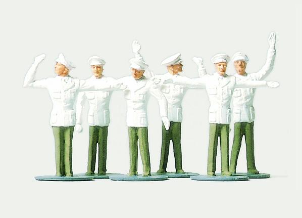 1:87 Polizei, Verkehrspolizei in weissen Uniformen - Preiser 0215025  - preiswerte Standardbemalung | günstig bestellen bei Modelleisenbahn Center  MCS Vertriebs GmbH