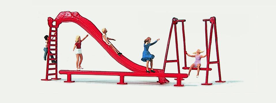 1:160 Kinderpielplatz mit Rutsche und spielenden Kindern - Merten  | günstig bestellen bei Modelleisenbahn Center  MCS Vertriebs GmbH