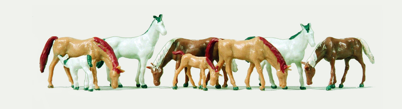 1:120 Pferde, 8 Warmblüter - Merten  | günstig bestellen bei Modelleisenbahn Center  MCS Vertriebs GmbH