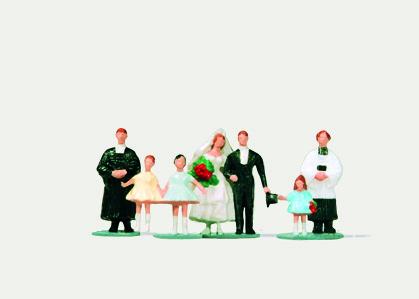 1:220 Brautpaar mit Pfarrer - Merten