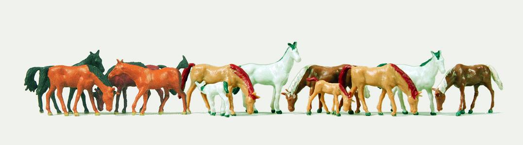 1:220 Pferde, 12 Warmblüter - Merten  | günstig bestellen bei Modelleisenbahn Center  MCS Vertriebs GmbH