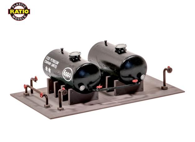 H0 Tanklager mit 2 Tanks - Peco 530  | günstig bestellen bei Modelleisenbahn Center  MCS Vertriebs GmbH