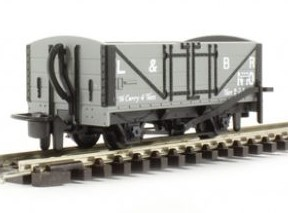 H0e Offener Güterwagen grau, 2-achsig - L&B no.10 - Peco  - Fertigmodell  | günstig bestellen bei Modelleisenbahn Center  MCS Vertriebs GmbH