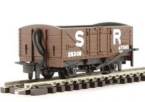 H0e Offener Güterwagen braun, 2-achsig- SR no.10 - Peco  - Fertigmodell  | günstig bestellen bei Modelleisenbahn Center  MCS Vertriebs GmbH