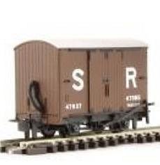 H0e Gedeckter Güterwagen braun, 2-achsig- SR no.47037 - Peco  - Fertigmodell  | günstig bestellen bei Modelleisenbahn Center  MCS Vertriebs GmbH