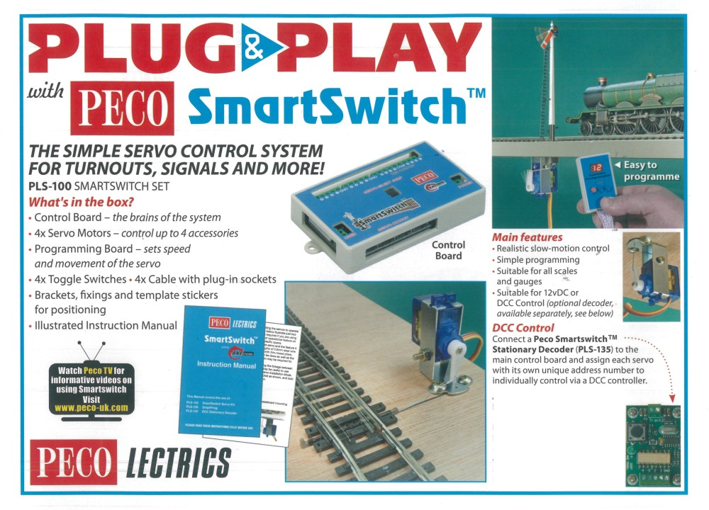 Peco Smartswitch Weichensteuerung, Startset- Peco PLS-100 - Inhalt siehe Details | günstig bestellen bei Modelleisenbahn Center  MCS Vertriebs GmbH