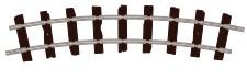 H0e Gleis gebogen, R=228mm, 22,5°, 8 Stück - Peco ST403  | günstig bestellen bei Modelleisenbahn Center  MCS Vertriebs GmbH