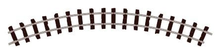 H0e Gleis gebogen, R=228mm, 45°, 4 Stück - Peco ST412  | günstig bestellen bei Modelleisenbahn Center  MCS Vertriebs GmbH