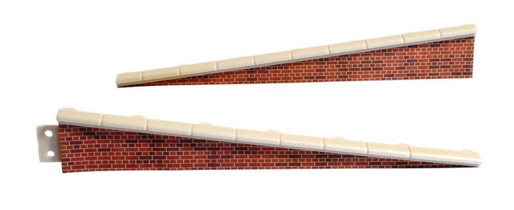 Rampe Ziegelstein, 2 Paar, L=113mm- Peco LK66  - auch als Laderampe verwendbar | günstig bestellen bei Modelleisenbahn Center  MCS Vertriebs GmbH