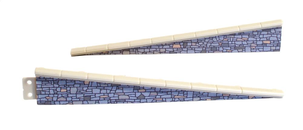 Rampe Naturstein, 2 Paar, L=113mm- Peco LK67  - auch als Laderampe verwendbar | günstig bestellen bei Modelleisenbahn Center  MCS Vertriebs GmbH