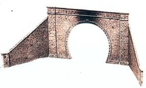 1:45 Tunnelportal mit Stützmauer eingleisig - Peco  | günstig bestellen bei Modelleisenbahn Center  MCS Vertriebs GmbH