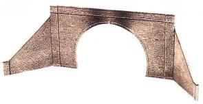 1:45 Tunnelportal mit Stützmauer zweigleisig - Peco  | günstig bestellen bei Modelleisenbahn Center  MCS Vertriebs GmbH