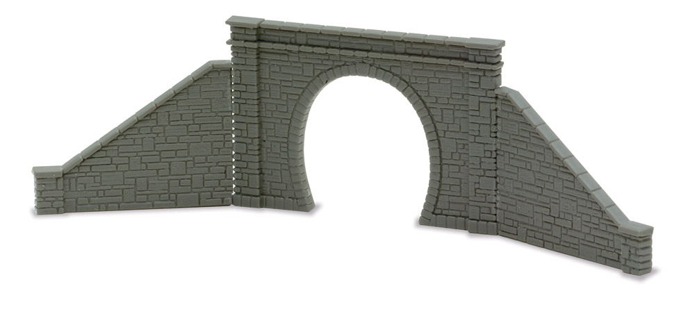 Spur N Tunnelportal einspurig mit seitlichen Stützmauern - Peco NB31  | günstig bestellen bei Modelleisenbahn Center  MCS Vertriebs GmbH