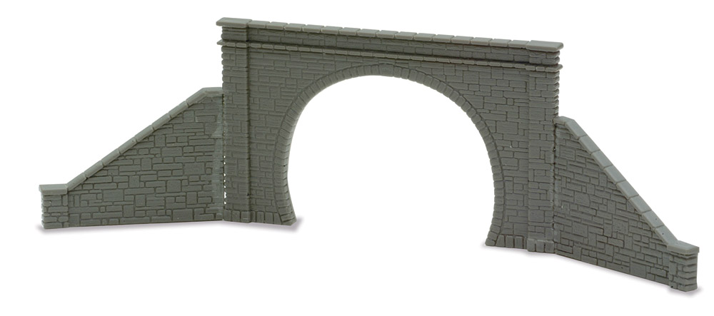 Spur N Tunnelportal zweispurig mit seitlichen Stützmauern - Peco NB32  | günstig bestellen bei Modelleisenbahn Center  MCS Vertriebs GmbH