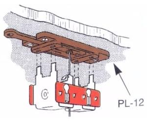 Weichenantrieb, Adapterplatte ohne Feder für Unterflureinbau- Peco PL12X mit Justiermöglichkeit | günstig bestellen bei Modelleisenbahn Center  MCS Vertriebs GmbH