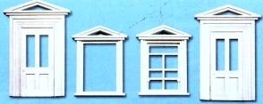 1:45 Türen und Rahmen, 8 St. - Peco Kunststoff | günstig bestellen bei Modelleisenbahn Center  MCS Vertriebs GmbH