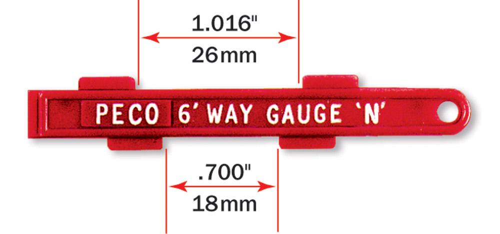 Gleislehre zum exakten Verlegen von Spur N und H0e Parallelgleisen - Peco  - für 26,5 oder 35mm Gleisabstand | günstig bestellen bei Modelleisenbahn Center  MCS Vertriebs GmbH
