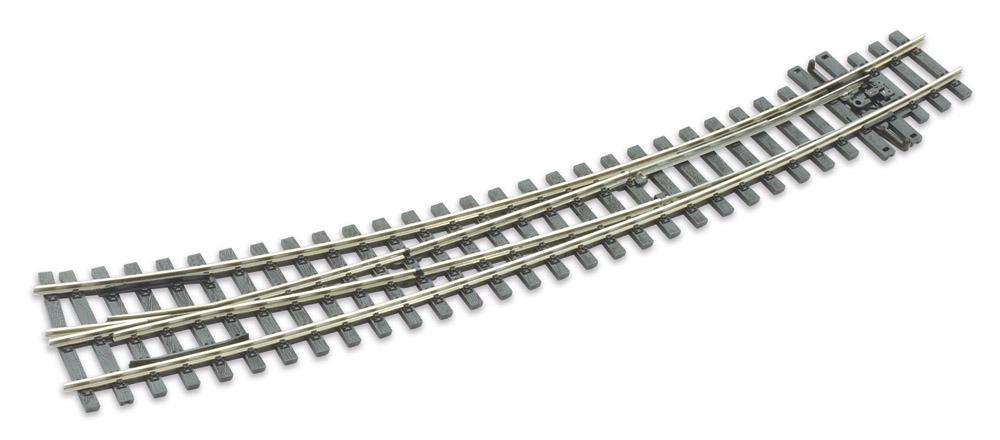 H0m Bogenweiche rechts 10°, L=237mm - Peco SLE 1486 mit leitendem Herzstück | günstig bestellen bei Modelleisenbahn Center  MCS Vertriebs GmbH