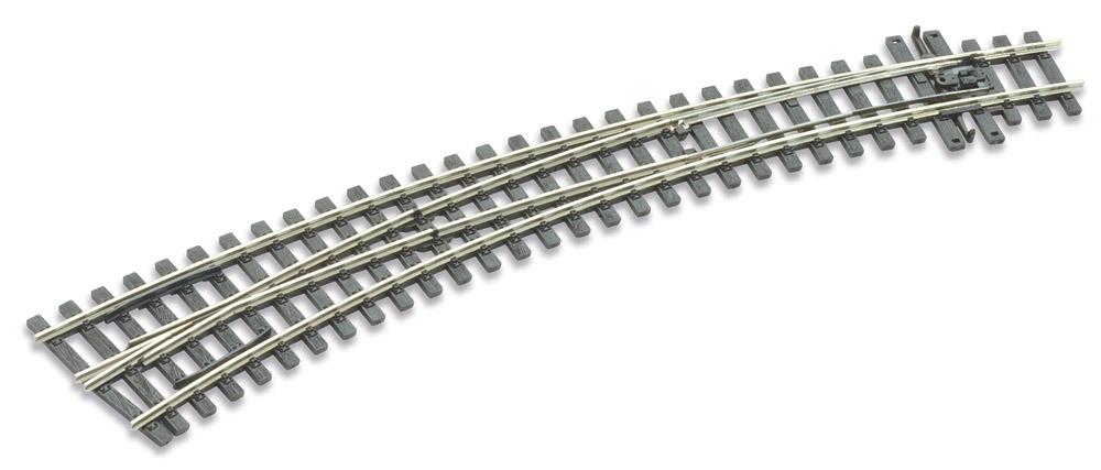 H0m Bogenweiche links 10°, L=237mm - Peco SLE 1487 mit leitendem Herzstück | günstig bestellen bei Modelleisenbahn Center  MCS Vertriebs GmbH