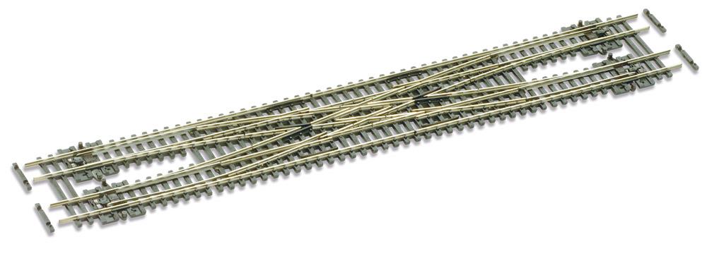 N Code 55 - 10° Doppelte Gleisverbindung , Länge 271 mm - Peco SLE383F Radius 457 mm | günstig bestellen bei Modelleisenbahn Center  MCS Vertriebs GmbH