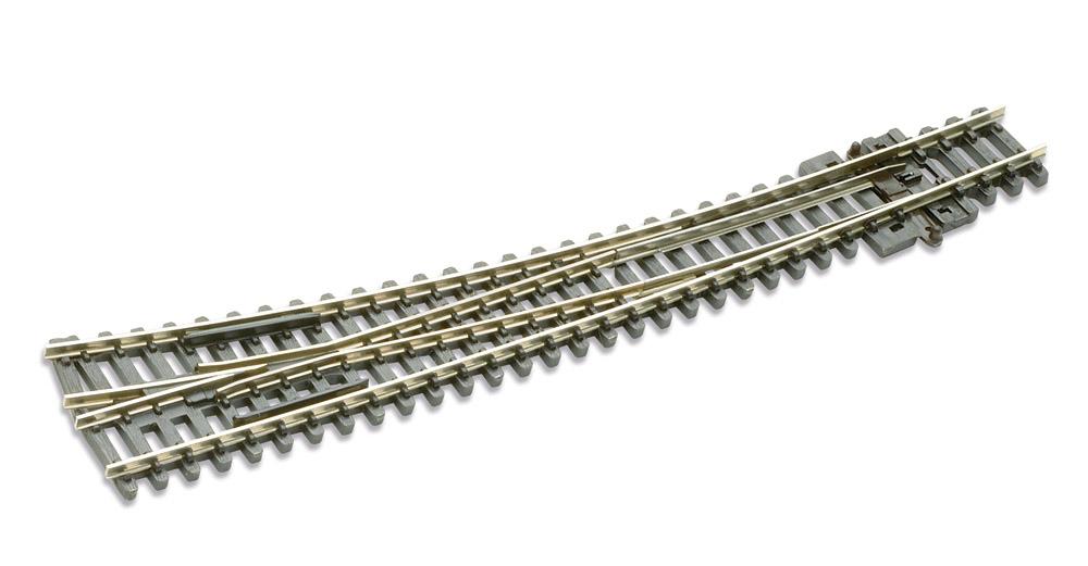 N Code 80 - 10° Bogenweiche rechts, Länge 157 mm - Peco SLE 386 Außenradius 914 mm, Innenradius 457 mm | günstig bestellen bei Modelleisenbahn Center  MCS Vertriebs GmbH