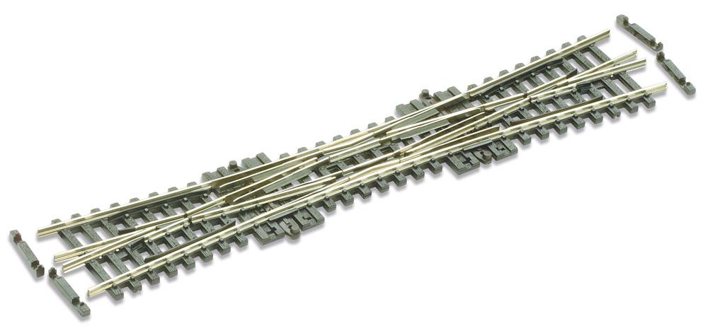 N Code 55 - 10° Doppelte Kreuzungsweiche, Länge 154 mm - Peco SLE390F Radius 511 mm | günstig bestellen bei Modelleisenbahn Center  MCS Vertriebs GmbH