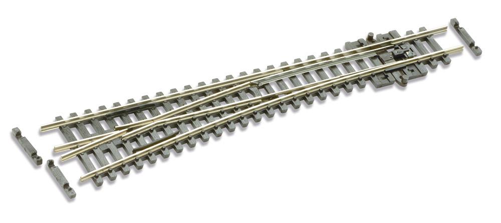 N Code 55 - 10° Weiche links, Länge 137 mm - Peco SL-U396F Mittlerer Radius 457 mm | günstig bestellen bei Modelleisenbahn Center  MCS Vertriebs GmbH