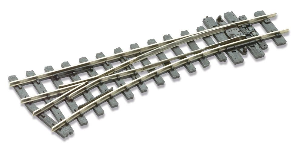 H0e Weiche links, 14°, R=304mm - Peco SLE492 mit leitendem Herzstück | günstig bestellen bei Modelleisenbahn Center  MCS Vertriebs GmbH