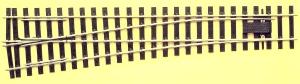 Spur 0 Code 143 - 8° Weiche links, Länge 416 mm - Peco SLE791FB Mittlerer Radius 1828 mm | günstig bestellen bei Modelleisenbahn Center  MCS Vertriebs GmbH