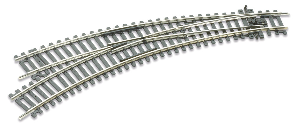 H0 C100 Bogenweiche links – Peco  | günstig bestellen bei Modelleisenbahn Center  MCS Vertriebs GmbH