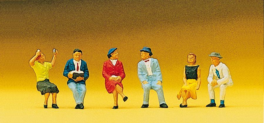 1:87 Sitzende Personen - Preiser 10021 Art.Nr.663-10021
