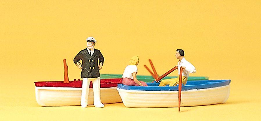 1:87 Bootsverleih mit 3 Booten - Preiser 10072 Art.Nr.663-10072