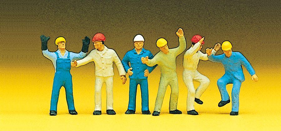 1:87 Industriearbeiter mit Helm und Overall- Preiser 10105  | günstig bestellen bei Modelleisenbahn Center  MCS Vertriebs GmbH