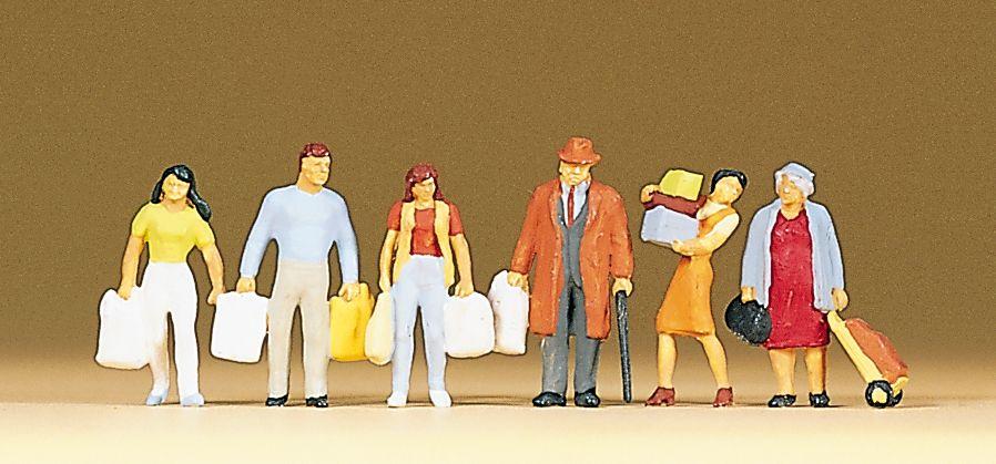 1:87 Einkaufende mit Tüten und Taschen- Preiser 10121  | günstig bestellen bei Modelleisenbahn Center  MCS Vertriebs GmbH