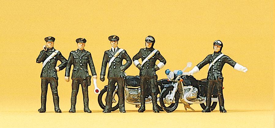1:87 Polizei, Carabinieri mit 2 Motorrädern- Preiser 10175  | günstig bestellen bei Modelleisenbahn Center  MCS Vertriebs GmbH